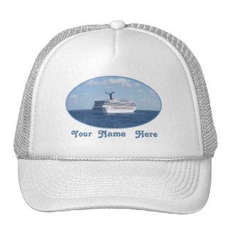 Nave en el personalizado del mar gorra