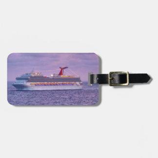 Nave en etiqueta personalizada púrpura del equipaj etiquetas de equipaje