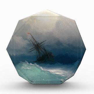 Nave en los mares tempestuosos, Ivan Aivazovsky