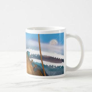 Nave en un Océano Atlántico tempestuoso Taza Clásica