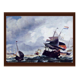Nave en una tormenta de Ludolf Bakhuizen (la mejor Tarjeta Postal