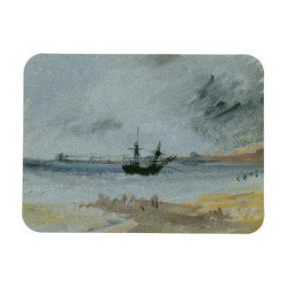 Nave encallada, Brighton, 1830 (tinta negra, w/c y Iman Flexible