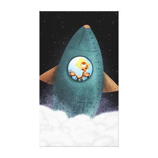 """Nave espacial animal grande - """"frontera final """" impresiones de lienzo"""
