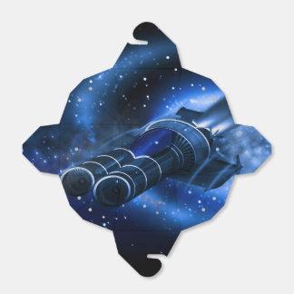 Nave espacial de la ciencia ficción caja para regalos de fiestas