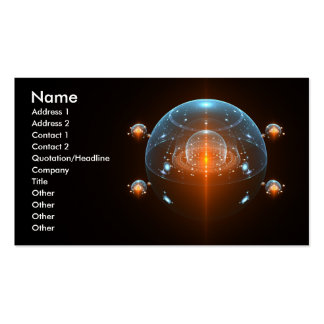 Nave espacial de la ciencia ficción tarjeta de negocio