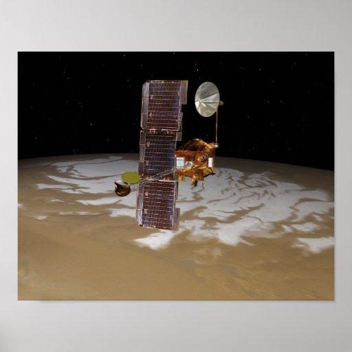 Nave espacial de la odisea de Marte Póster