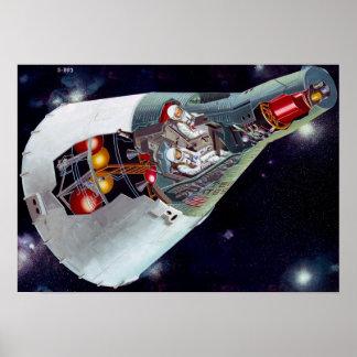 Nave espacial de los géminis póster