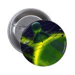 Nave espacial del planeta w del verde de la cienci pin