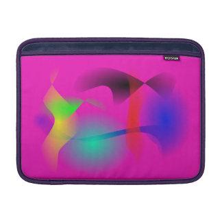 Nave espacial en el espacio rosado fundas MacBook