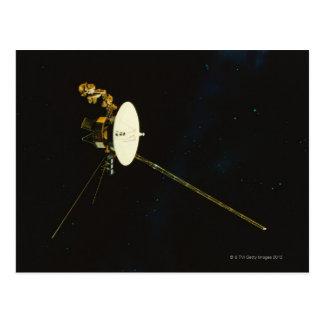 Nave espacial en espacio postales
