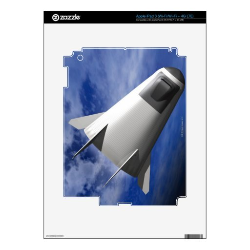 Nave espacial imaginaria iPad 3 skins