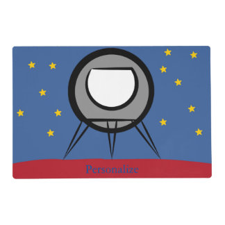 Nave espacial linda salvamanteles