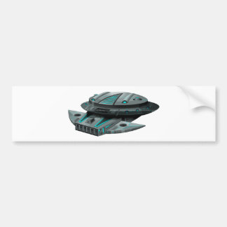 Nave espacial negra en el fondo blanco pegatina para auto