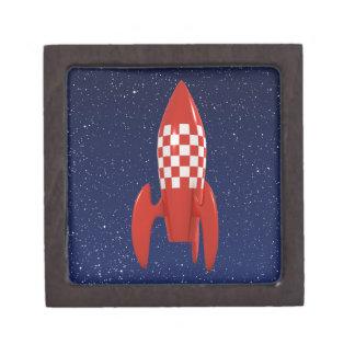 Nave espacial retra fresca de Rocket de espacio de Caja De Joyas De Calidad