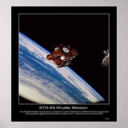 Nave espacial SPARTAN-201 backdropped Póster