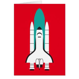 nave espacial tarjeta de felicitación