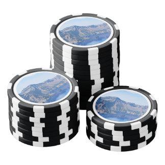 Nave fantasma del lago crater fichas de póquer