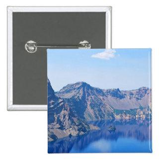 Nave fantasma del lago crater pin cuadrado