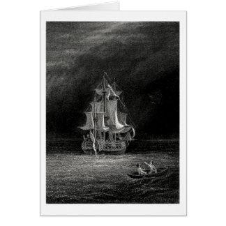 Nave fantasma tarjeta de felicitación