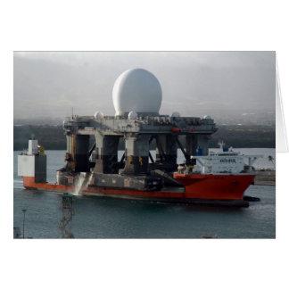 Nave grande del radar tarjeta de felicitación