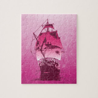 Nave histórica rosada puzzle
