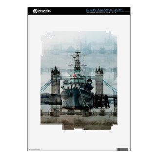 Nave, ilustraciones de los barcos rastreadores iPad 3 pegatinas skins