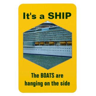 Nave o barco imán flexible