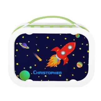Nave personalizada de Rocket en espacio