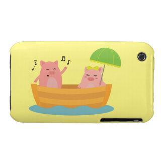 Nave Piggies del amor Funda Para iPhone 3 De Case-Mate