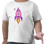 Nave rosada de Rocket Camiseta