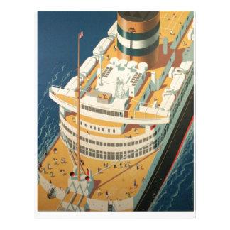 Nave transatlántica del vintage membrete a diseño