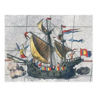 Nave Victoria de Magellan del mapa de Ortelius del Tarjetas Postales