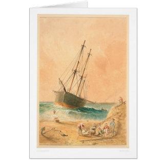 """Nave """"Viscata"""" de Británicos varado (0533A) Tarjeta De Felicitación"""