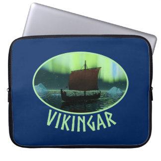 Nave y aurora boreal de Viking Funda Portátil