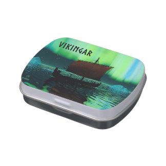 Nave y aurora boreal de Viking Jarrones De Caramelos