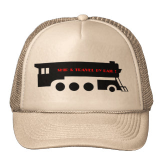 Nave y viaje en tren de ferrocarril gorras de camionero