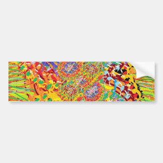 NAVEEN All Smiles: Abstract Flower Patterns Bumper Sticker