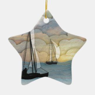 Navegación Adorno Navideño De Cerámica En Forma De Estrella