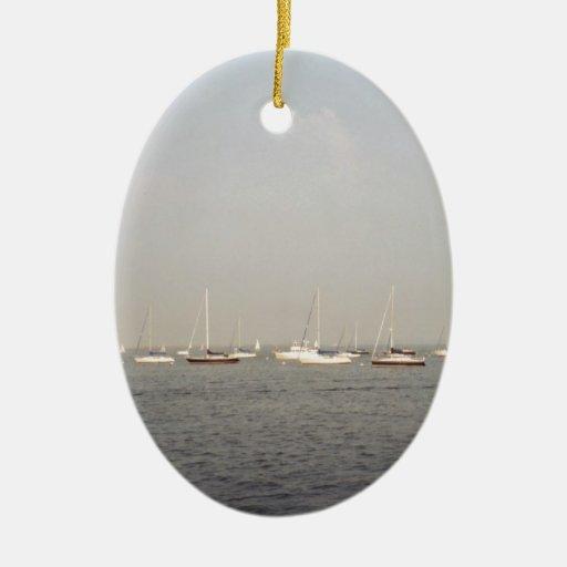 Navegación Adorno Ovalado De Cerámica