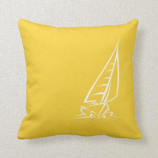 Navegación ambarina amarilla almohada