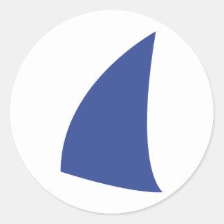 navegación azul del icono de la vela pegatinas redondas