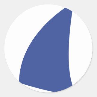 navegación azul del icono de la vela etiquetas redondas