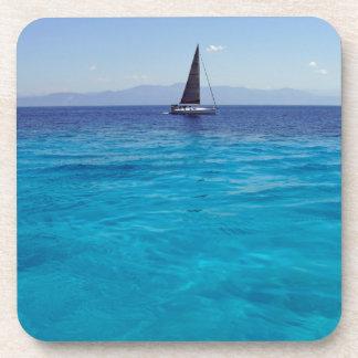navegación azul del mar posavasos