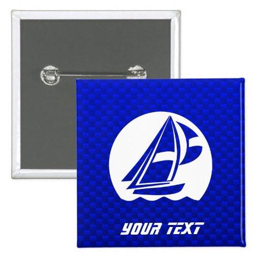 Navegación azul pin cuadrada 5 cm