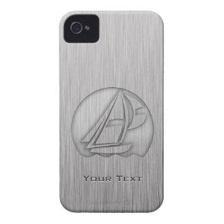 Navegación cepillada de la Metal-mirada iPhone 4 Case-Mate Funda