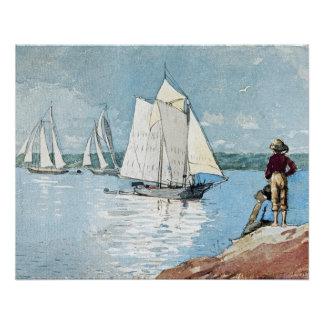 Navegación clara de Winslow Homer Perfect Poster