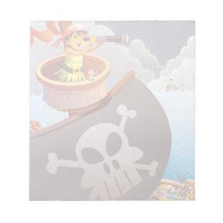 Navegación con los piratas blocs de notas