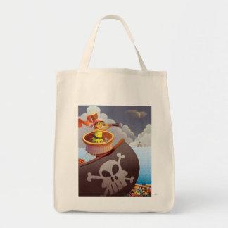 Navegación con los piratas bolsa lienzo