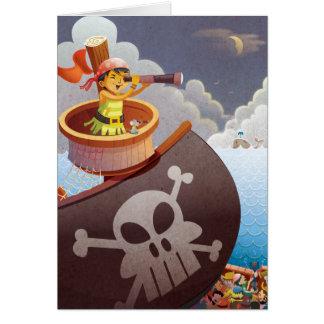 Navegación con los piratas tarjeta pequeña