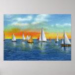 Navegación de Carolina del Norte de la playa de Wr Posters